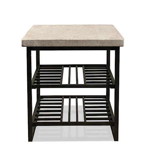 Riverside Furniture Capri End Table w/ Shelves