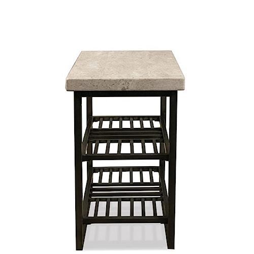 Riverside Furniture Capri Petite Chairside Table w/ Travertine Top