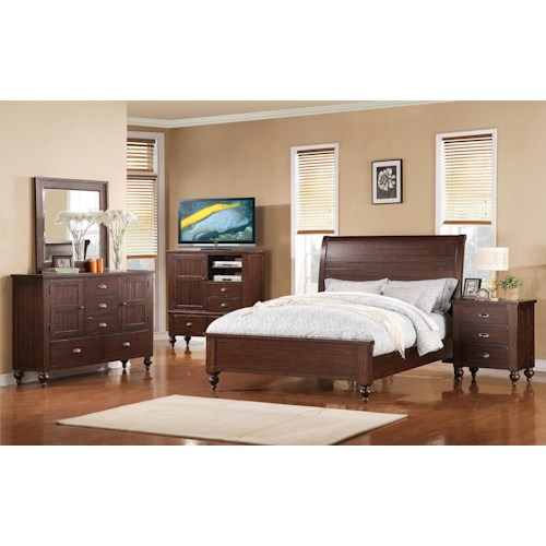 Riverside Furniture Castlewood Cal King Bedroom Group 1