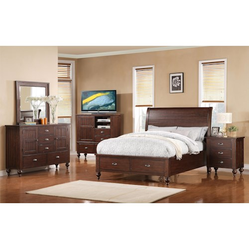 Riverside Furniture Castlewood Cal King Bedroom Group 2