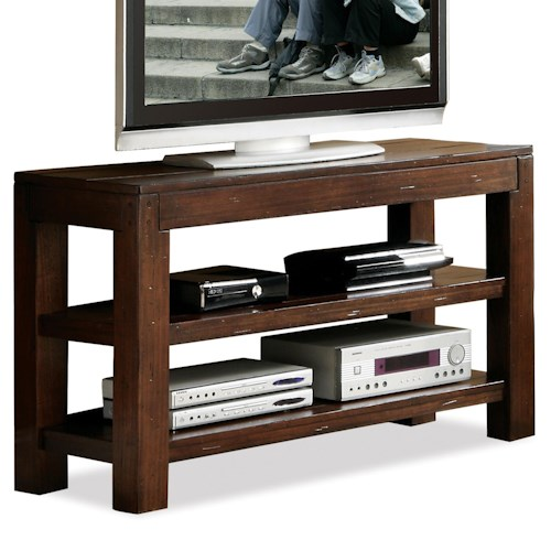 Riverside Furniture Castlewood Open Console Table with 2 Fixed Shelves