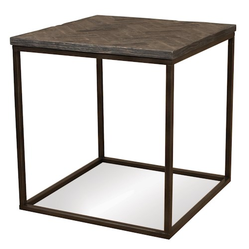 Riverside Furniture Chevron Chevron Top Square Side Table