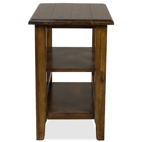Riverside Furniture Claremont  Chairside Table with 2 Shelves