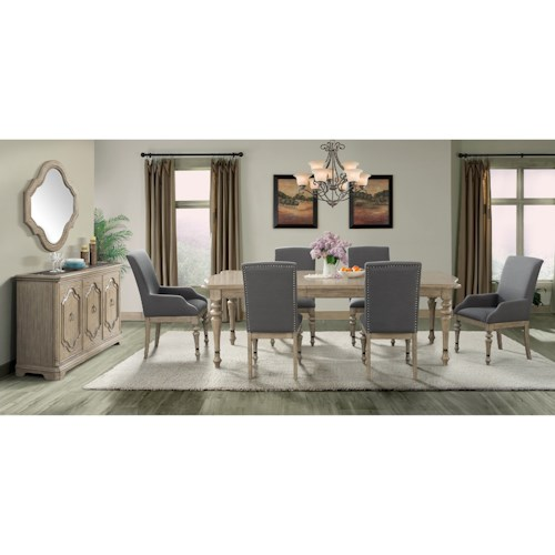 Riverside Furniture Corinne Formal Dining Room Group