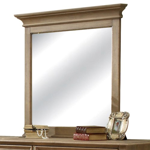 Riverside Furniture Coventry Framed Mirror with Beveled Edge