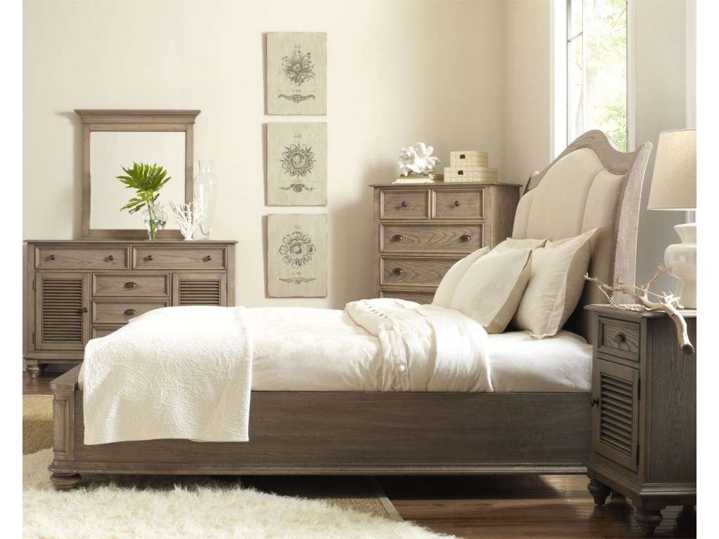 Shown with Dresser, Mirror, Chest & Upholstered Bed