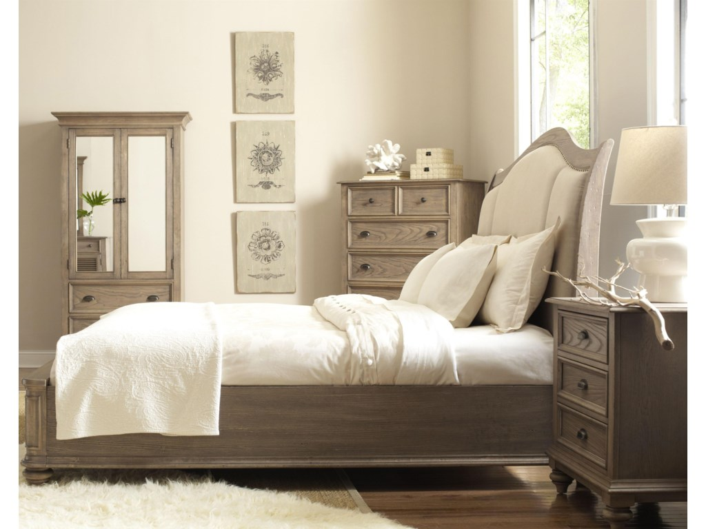 Shown in Bedroom with Armoire, Chest & Night Stand