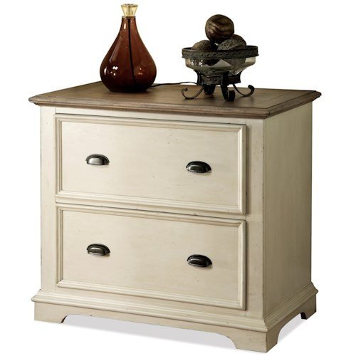 Riverside Furniture Coventry Two Tone Lateral File Cabinet with 2 Drawers
