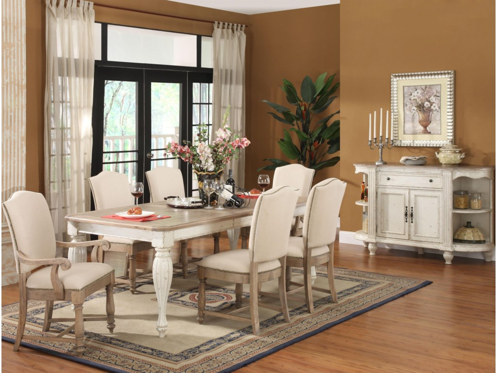 Shown with Upholstered Chairs & Server