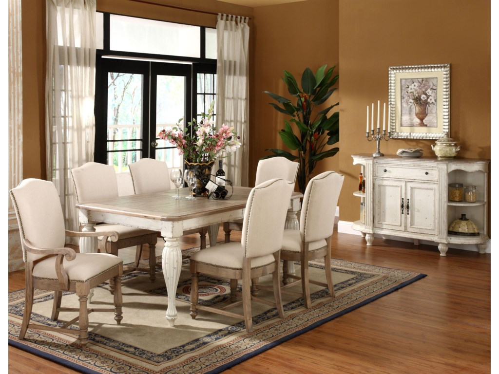 Shown with Side Chairs, Rectangular Dining Table & Server