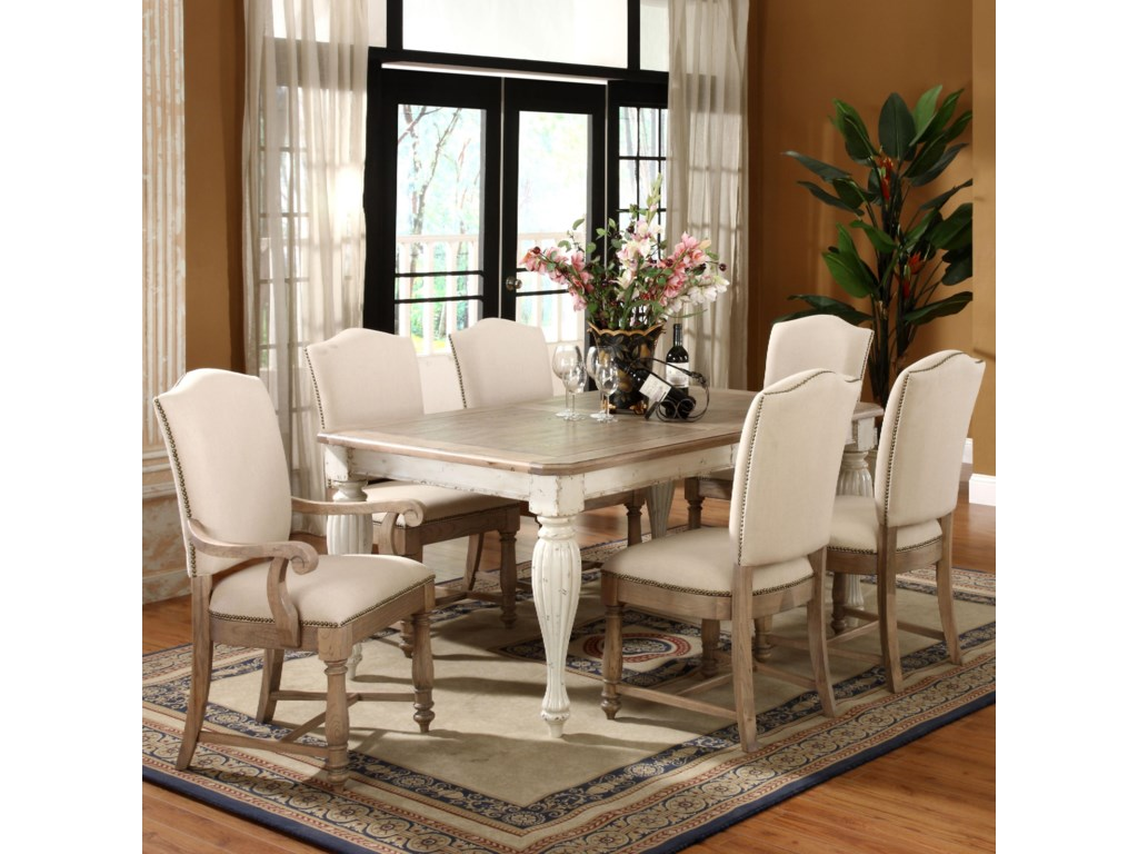 Shown with Side Chairs & Rectangular Dining Table