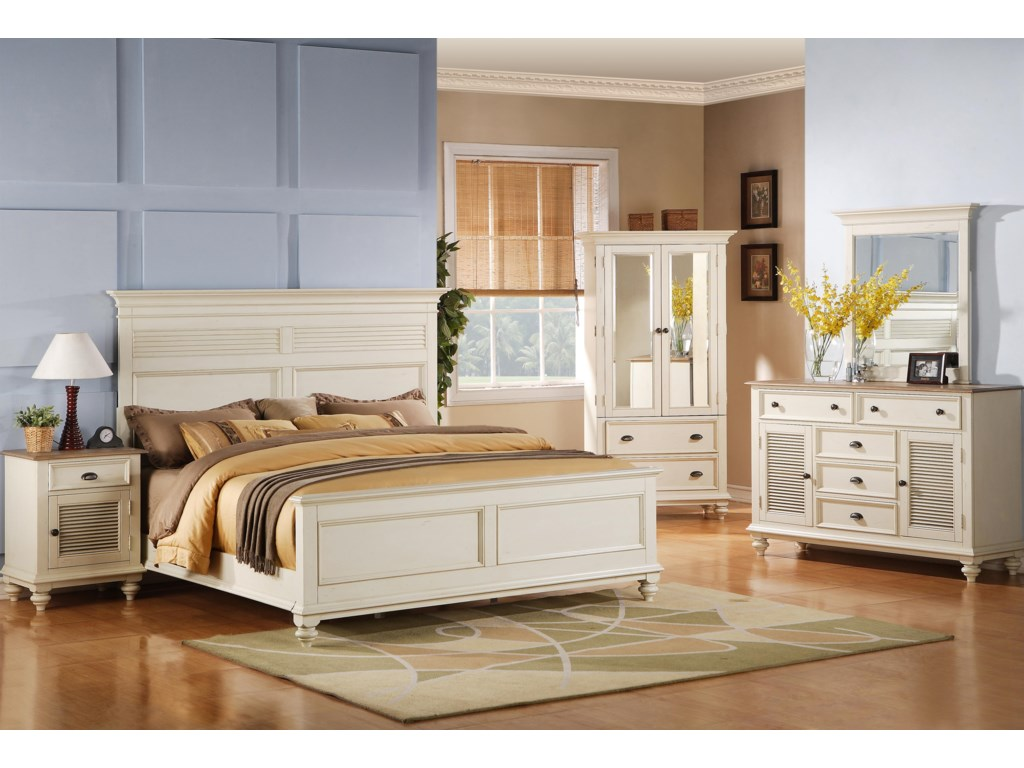 Shown with Panel Bed, Armoire, Dresser & Mirror