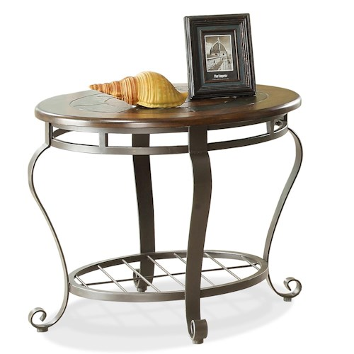 Riverside Furniture Eastview Round End Table w/ Shelf