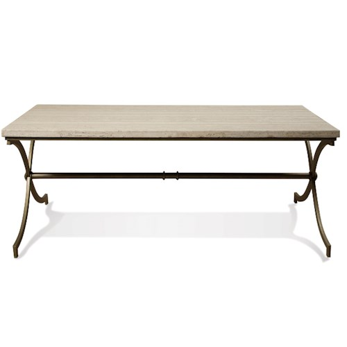 Riverside Furniture Elan Travertine Coffee Table