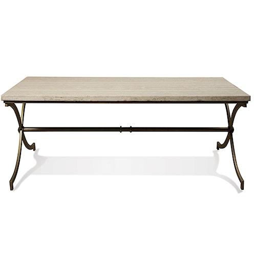 Riverside Furniture Elan Travertine Coffee Table
