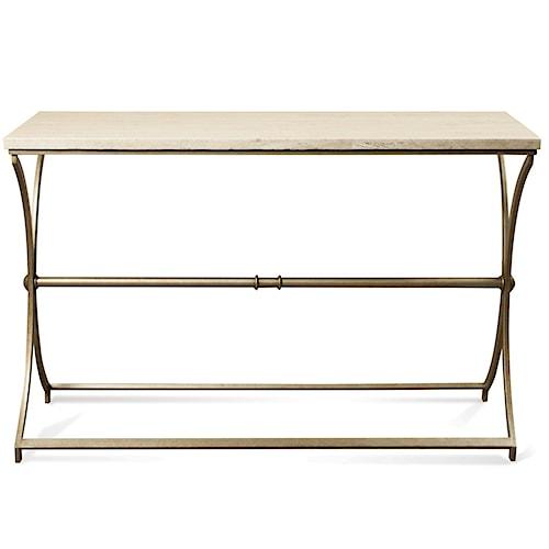 Riverside Furniture Elan Metal Base Sofa Table