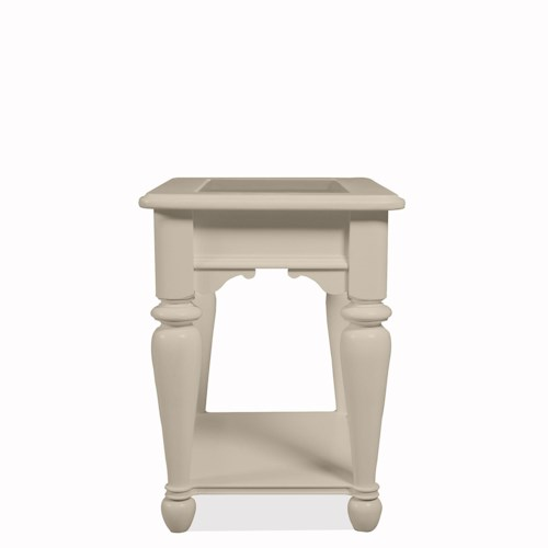 Riverside Furniture Essex Point Side Table with Bottom Shelf