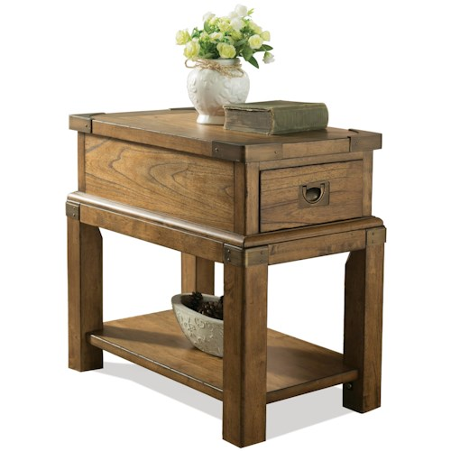 Riverside Furniture Falls Creek 1 Drawer Chairside Table