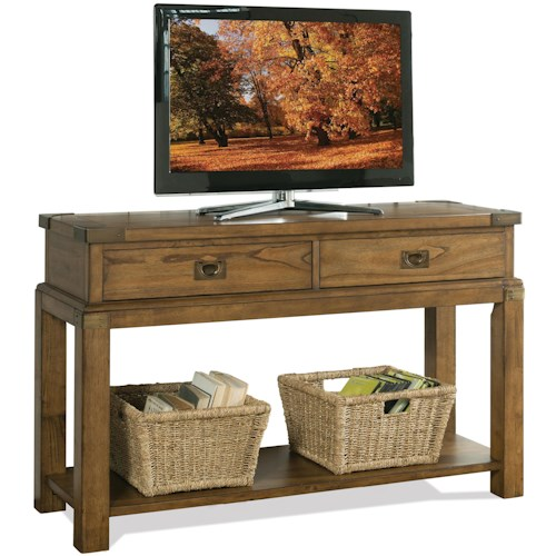 Riverside Furniture Falls Creek 2 Drawer Console Table