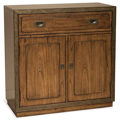 Riverside Furniture Falls Creek Storage Unit with Top Drop-Front Drawer