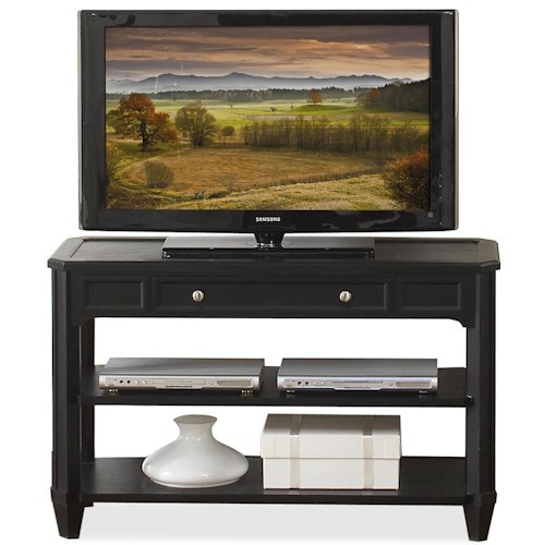 Riverside Furniture Farrington Rectangular Console Table with Center Drawer