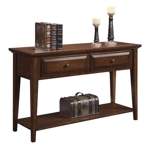 Riverside Furniture Hilborne Casual 2 Drawer Sofa Table