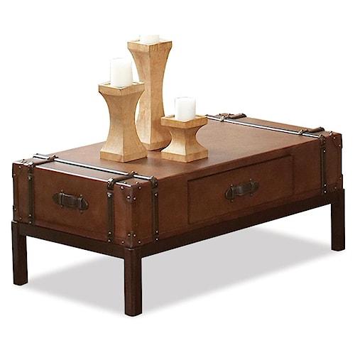 Riverside Furniture Latitudes Rectangular Cocktail Table with 1 Drawer
