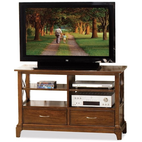 Riverside Furniture Lawrenceville Rectangular Console Table with 2 Drawers