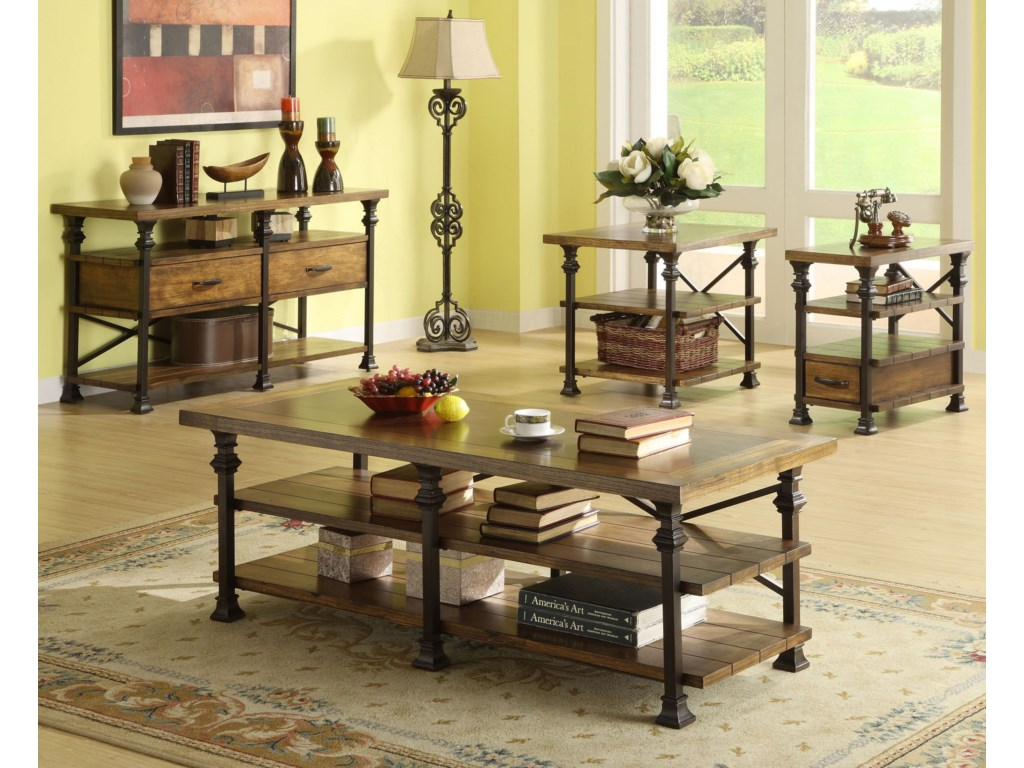Shown with Coffee Table, Chairside Table, and Console Table