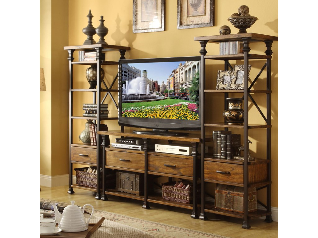 Shown in Room Setting with Media Console