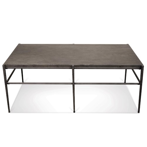 Riverside Furniture Lorraine Rectangular Coffee Table w/ Stone Top