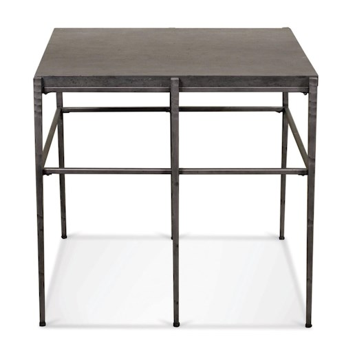 Riverside Furniture Lorraine Square End Table w/ Metal Base