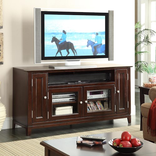 Riverside Furniture Marlowe 63-Inch TV Console with 4 Doors