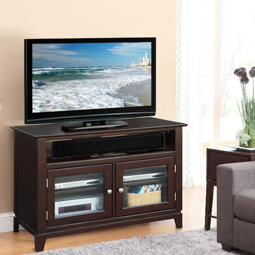 Riverside Furniture Marlowe 2-Door 42-Inch TV Console with 4 Shelves