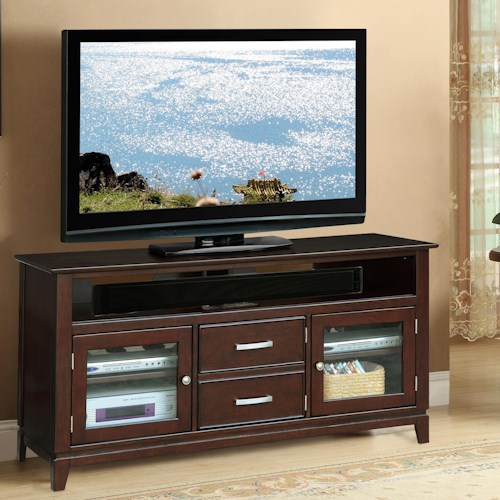 Riverside Furniture Marlowe 2-Drawer 60-Inch TV Console with 2 Doors