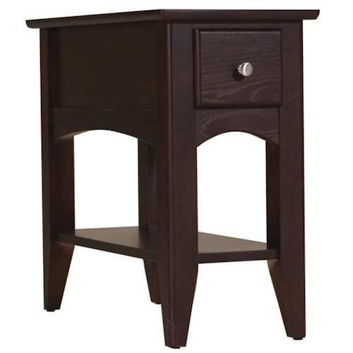 Riverside Furniture Metro II 1 Drawer Chairside Table