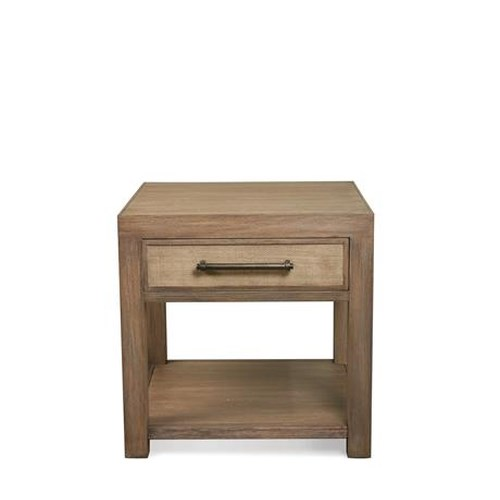 Riverside Furniture Mirabelle 1 Drawer End Table with a Fixed Bottom Shelf