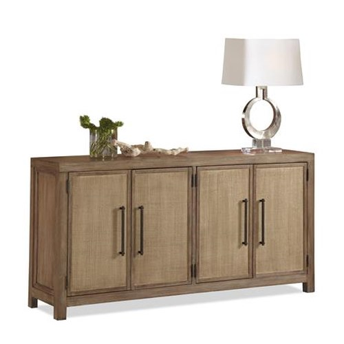 Riverside Furniture Mirabelle Server with Woven Cane Door Covering