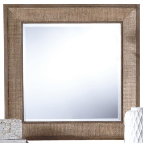 Riverside Furniture Mirabelle Accent Mirror with Woven Cane Border