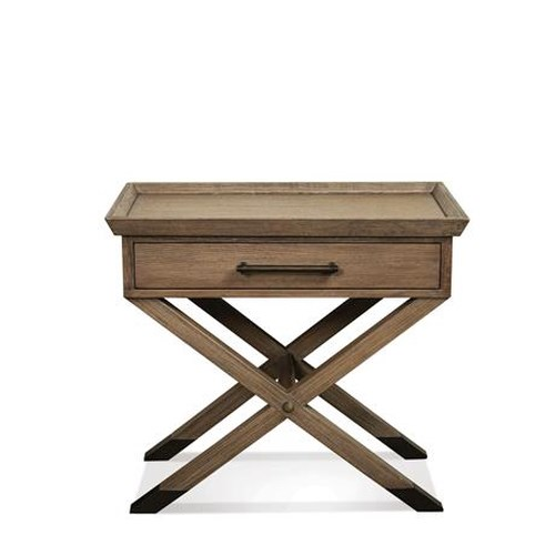 Riverside Furniture Mirabelle 1-Drawer Leg Nightstand
