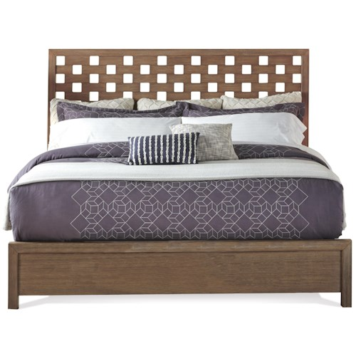 Riverside Furniture Mirabelle King Panel Bed with Square Cutout Style Headboard