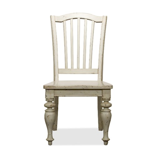 Riverside Furniture Mix-N-Match Chairs Dining Side Chair with Wooden Seat