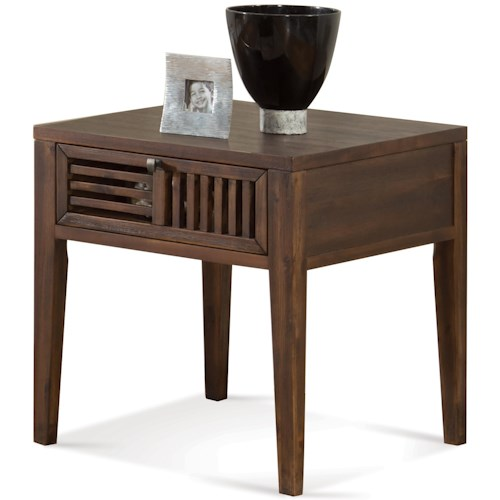 Riverside Furniture Modern Gatherings Open Slat End Table with 1 Drawer