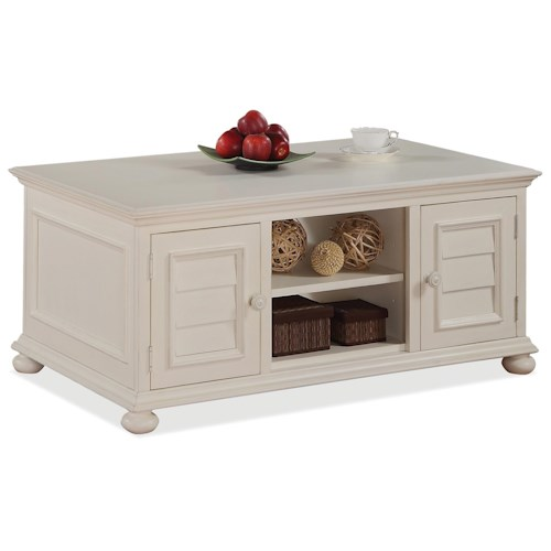 Riverside Furniture Placid Cove Cabinet Cocktail Table w/ Doors