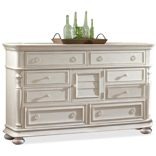 Riverside Furniture Placid Cove Rectangular Door Dresser with 8 Drawers