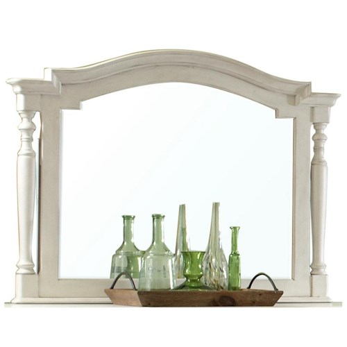 Riverside Furniture Placid Cove Arch Framed Landscape Mirror