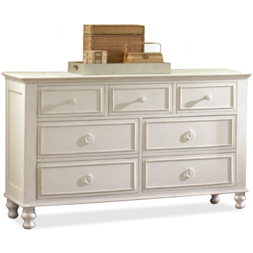 Riverside Furniture Placid Cove Rectangular 7 Drawer Dresser