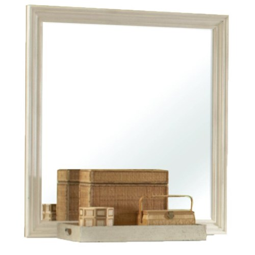 Riverside Furniture Placid Cove Panel Framed Rectangle Mirror