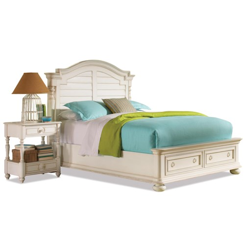 Riverside Furniture Placid Cove Cal King Arch Storage Bed