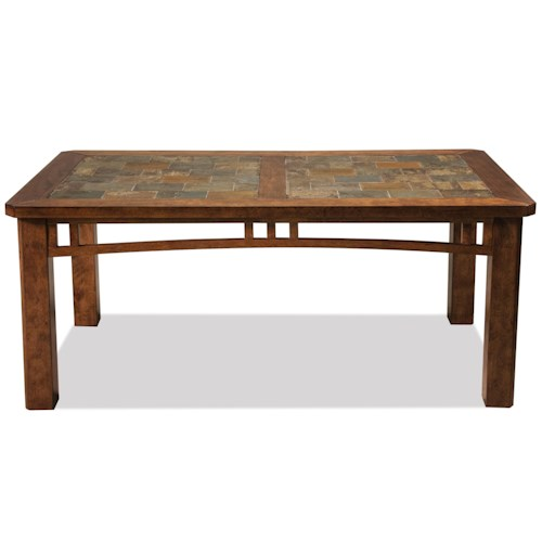 Riverside Furniture Preston Coffee Table w/ Slate Top